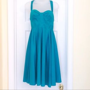 FRENCH CONNECTION Turquoise Retro Style Dress